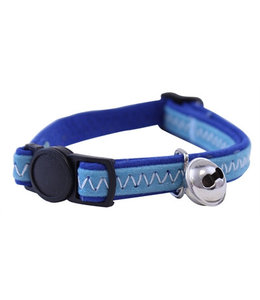 Out & about kattenhalsband suede look blauw