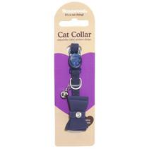 Kattenhalsband strik navy blauw