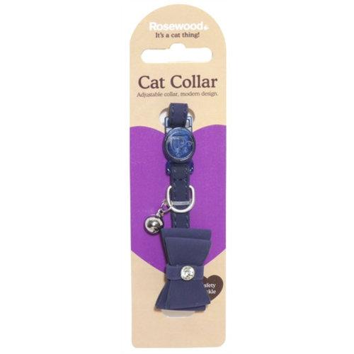 Huismerk Kattenhalsband strik navy blauw