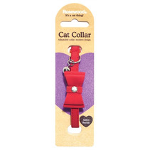 Kattenhalsband strik rood