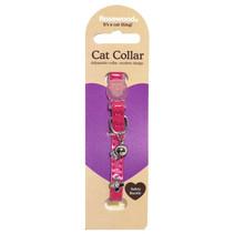 Kattenhalsband electric roze