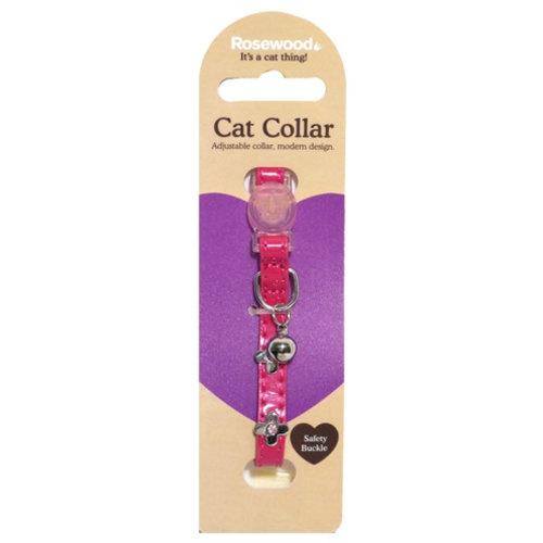 Huismerk Kattenhalsband electric roze