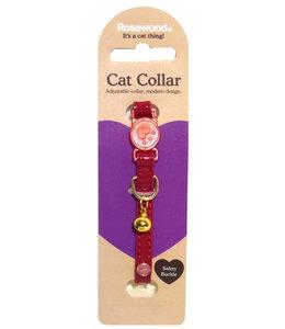 Kattenhalsband cherry