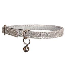 Bobby kattenhalsband glitter grijs