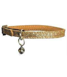 Bobby kattenhalsband glitter goud