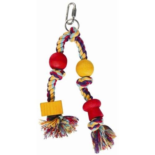 Huismerk Happy pet speelgoed papegaai twin hanger assorti