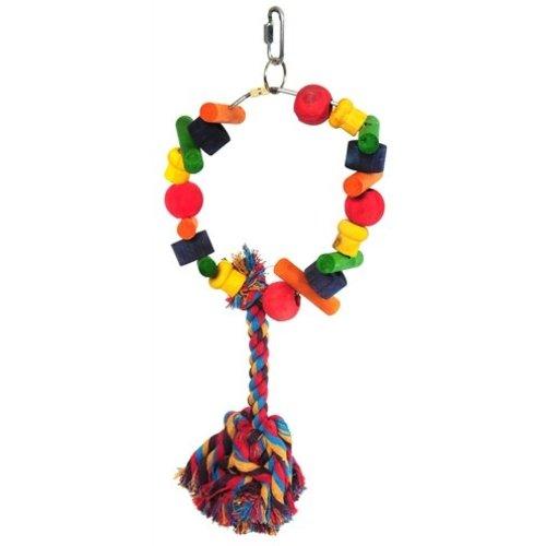 Huismerk Happy pet speelgoed papegaai cartwheel assorti