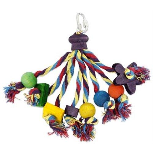 Huismerk Happy pet speelgoed papegaai carnival assorti