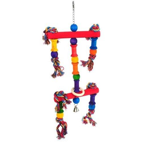 Huismerk Happy pet speelgoed papegaai juggler assorti