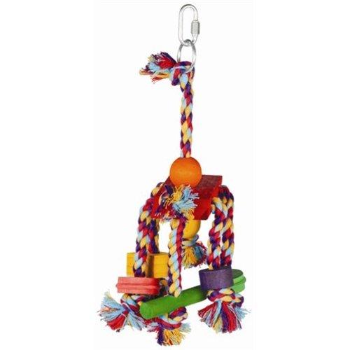 Huismerk Happy pet speelgoed papegaai fiesta assorti