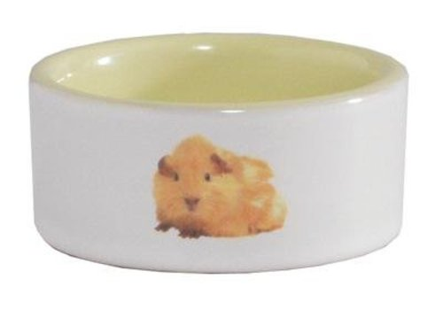 Hamstervoerbak ceramic geel