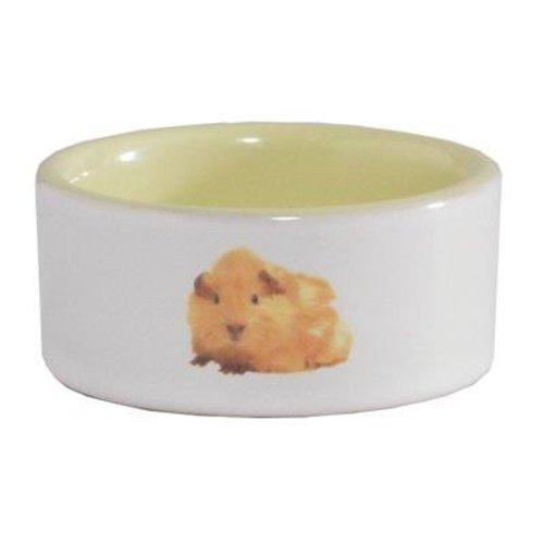 Huismerk Hamstervoerbak ceramic geel