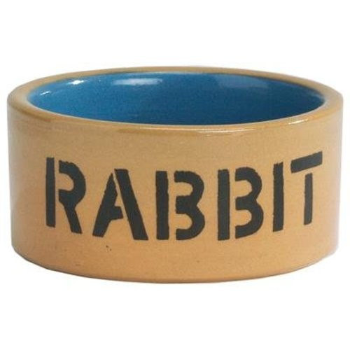 Huismerk Konijnenbak rabbit geglazuurd