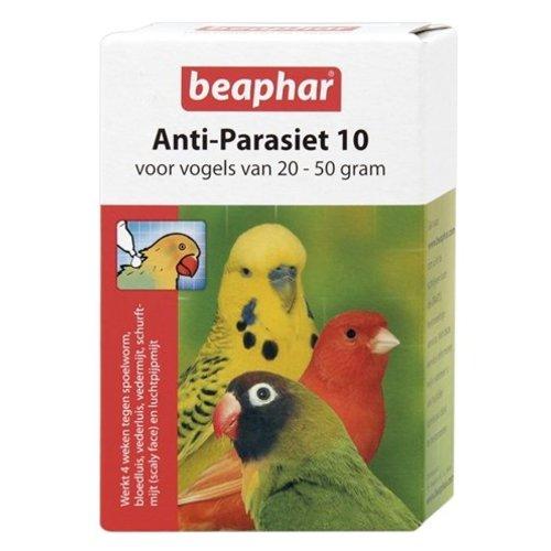 Huismerk Beaphar anti-parasiet 10 vogel (20-50gr)