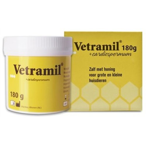 Huismerk Vetramil honingzalf pot