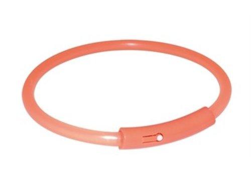 Trixie halsband light band oranje