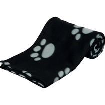 Trixie barney fleece hondendeken zwart/grijs