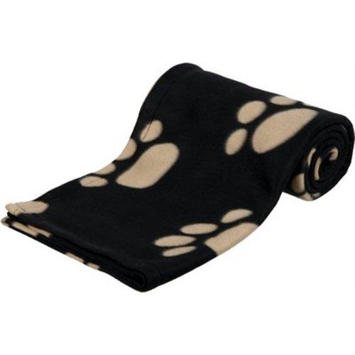 Huismerk Trixie barney fleece hondendeken zwart/beige
