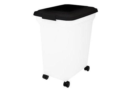 Bewaarcontainer luchtdicht transparant / zwart