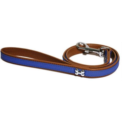 Huismerk Wag 'n' walk looplijn puppy / kleine hond blauw met stud