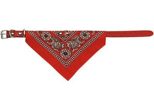 Adori halsband met zakdoek rood