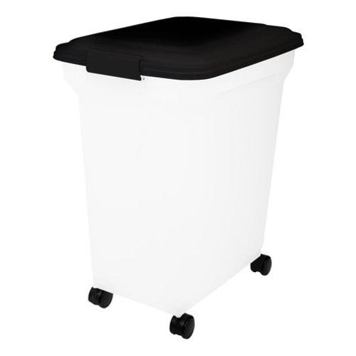 Huismerk Bewaarcontainer luchtdicht transparant / zwart