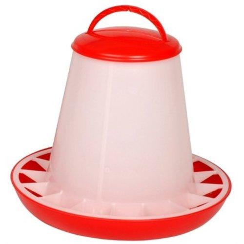 Huismerk Olba plastic voersilo rood