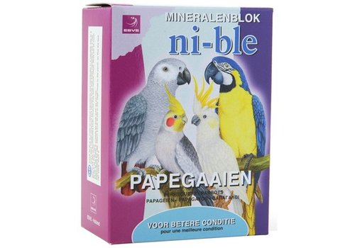 Esve ni-ble mineralen pikblok papegaai roze