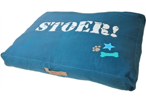 Lief! hondenkussen lounge stoer blauw