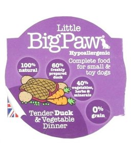 8x little big paw tender duck & vegetable dinner