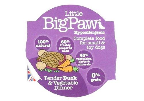 8x little big paw tender duck & vegetable dinner