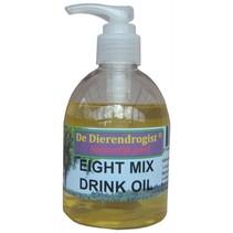 Dierendrogist eight mix drink olie met dispenser kat en hond