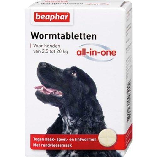 Huismerk Beaphar wormtablet all-in-one hond