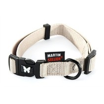 Martin sellier halsband nylon grijs verstelbaar