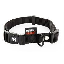 Martin sellier halsband nylon zwart verstelbaar