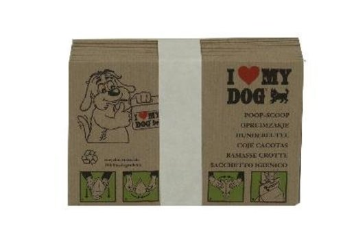I love my dog hondenpoepzakje bundel