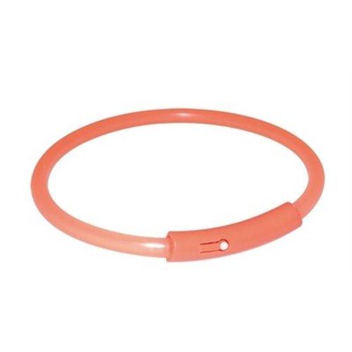 Huismerk Trixie halsband light band oranje