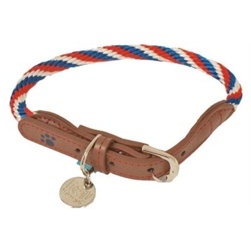 Huismerk Lief! halsband unisex blauw / rood