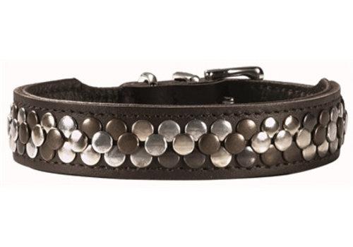 Hunter halsband arizona zwart nappaleer zwart onderlegd