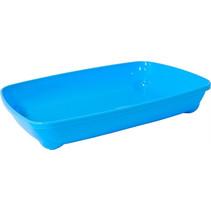 Moderna plastic kittenbak+rand lichtblauw