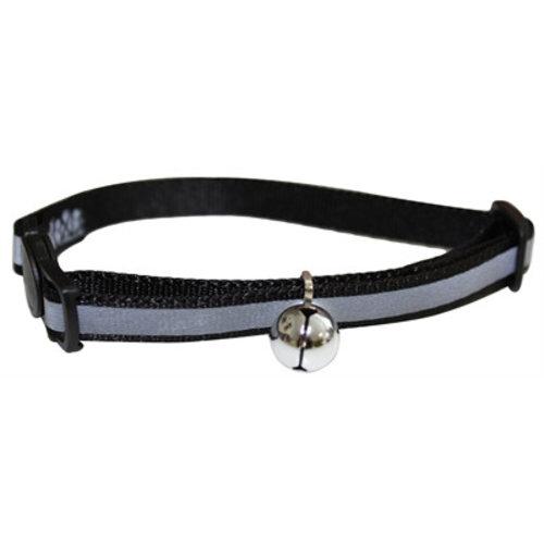 Huismerk Happy pet halsband kat reflecterend zwart
