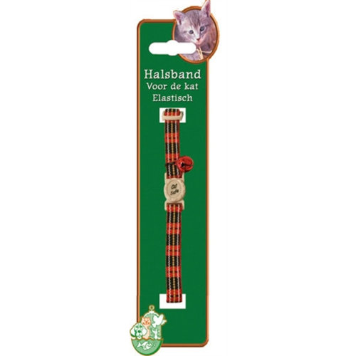 Boon Kattenhalsband elastisch met ruit rood