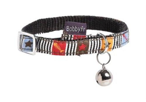 Bobby halsband nylon kat musique bruin