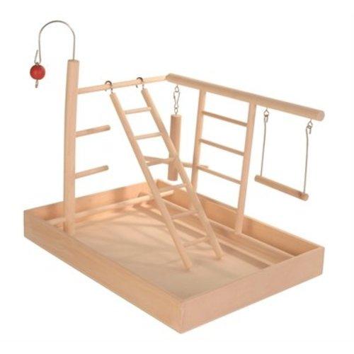 Huismerk Trixie speelplaats hout voor kanarie en parkiet
