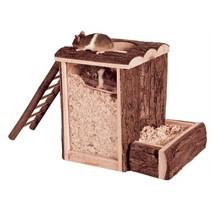 Trixie natural living speel- en graaftoren muis / dwerghamster