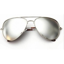 Goggle Aviator Zonnebril Wit