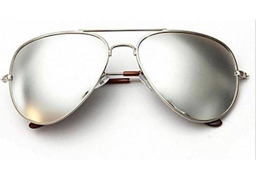 Huismerk Goggle Aviator Zonnebril Wit