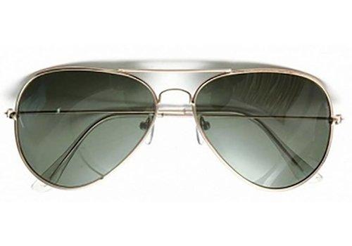 Huismerk Goggle Aviator Zonnebril Licht Grijs