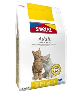 Smolke cat adult fish/rice