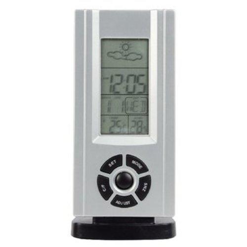 basicXL Thermo Hygrometer Weerstation Binnen Zilver
